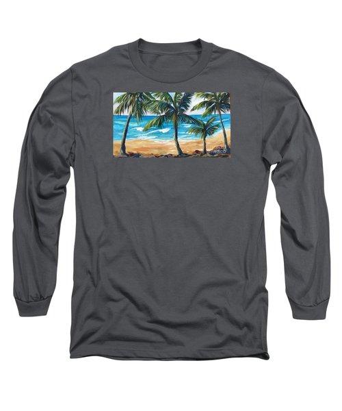 Tropical Palms I Long Sleeve T-Shirt