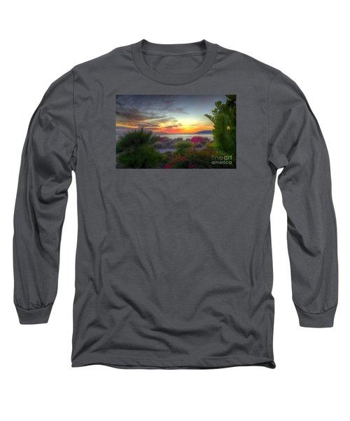 Tropical Paradise Sunset Long Sleeve T-Shirt