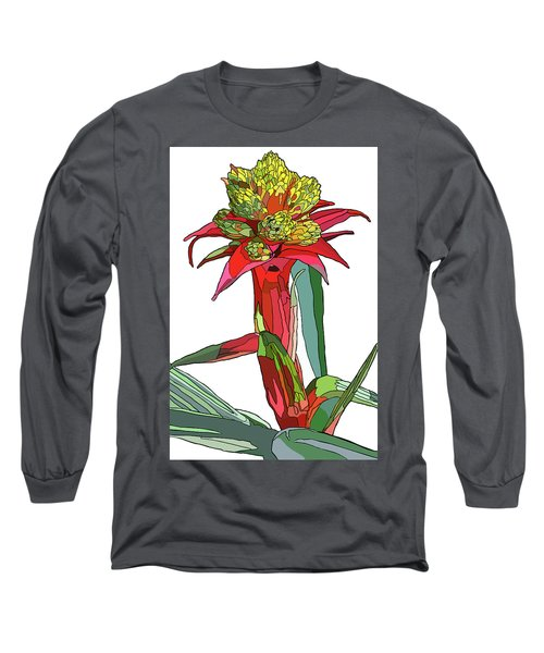 Tropical Reds Long Sleeve T-Shirt by Jamie Downs