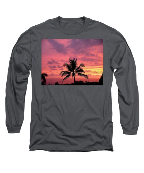 Long Sleeve T-Shirt featuring the photograph Tropical Sunset by Karen Nicholson
