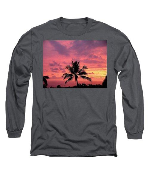Tropical Sunset Long Sleeve T-Shirt by Karen Nicholson