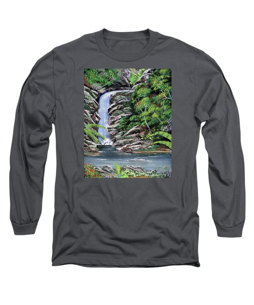 Tropical Waterfall 2 Long Sleeve T-Shirt by Luis F Rodriguez