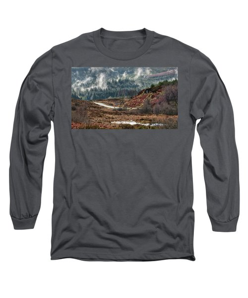 Long Sleeve T-Shirt featuring the photograph Trossachs National Park In Scotland by Jeremy Lavender Photography