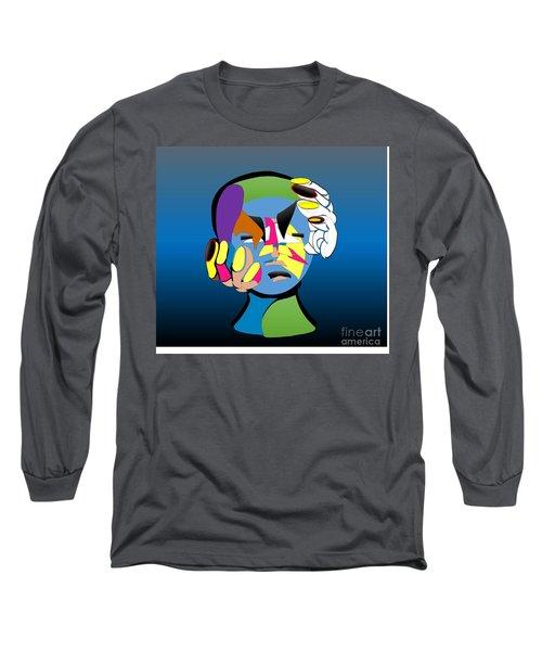 Troubled Long Sleeve T-Shirt by Belinda Threeths