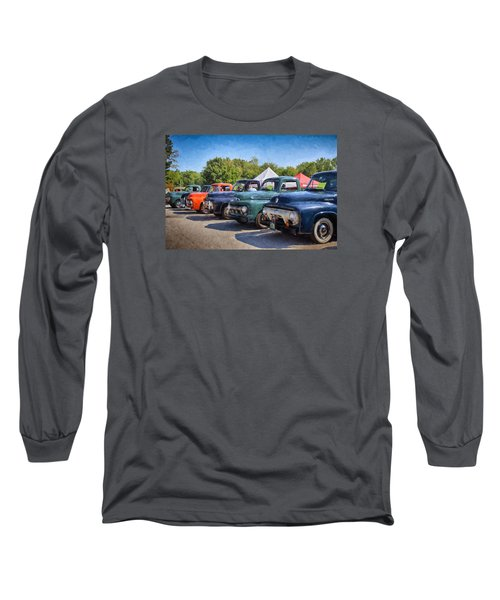 Trucks On Display Long Sleeve T-Shirt by Tricia Marchlik