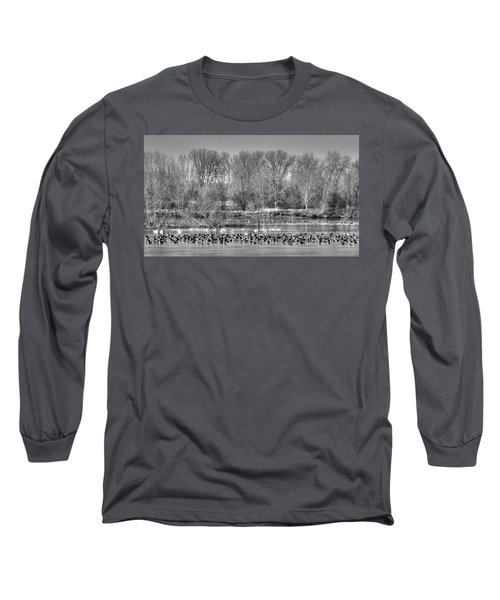Trumpeters And Canadians In Iowa Long Sleeve T-Shirt
