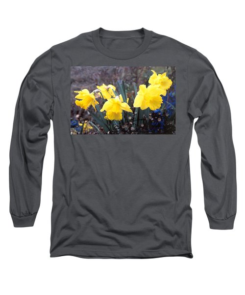 Trumpets Of Spring Long Sleeve T-Shirt by Steve Karol