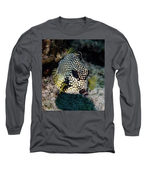 Long Sleeve T-Shirt featuring the photograph Trunkfish Portrait by Jean Noren