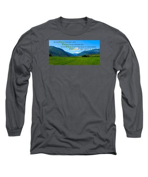 Truth In Fellowship Long Sleeve T-Shirt by David Norman