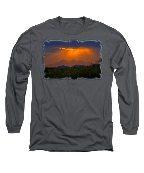 Tucson Mountains Sunset H29 Long Sleeve T-Shirt by Mark Myhaver