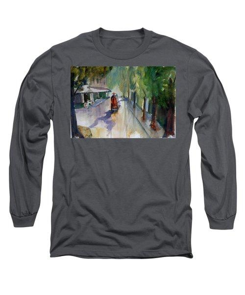 Tudo Street, Saigon 9 Long Sleeve T-Shirt by Tom Simmons