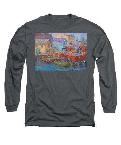 Tug Boats Portsmouth Maritime Painting Long Sleeve T-Shirt