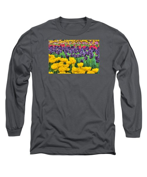 Tulip Colors Long Sleeve T-Shirt by Nadia Sanowar