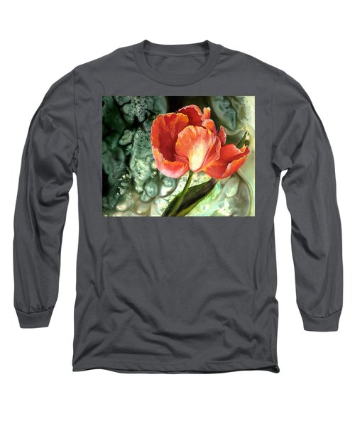 Long Sleeve T-Shirt featuring the painting Tulip Dance by Sherry Shipley
