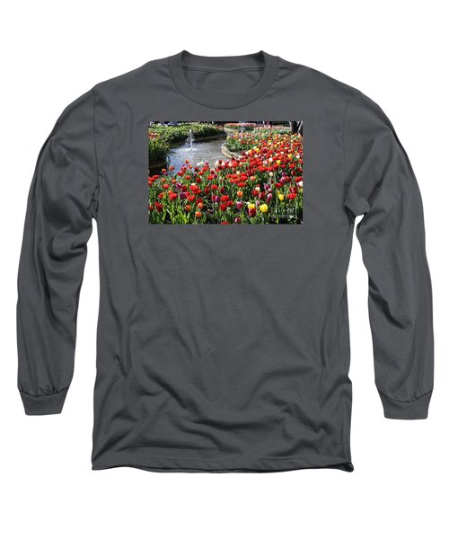 Tulip Festival Long Sleeve T-Shirt by Bev Conover