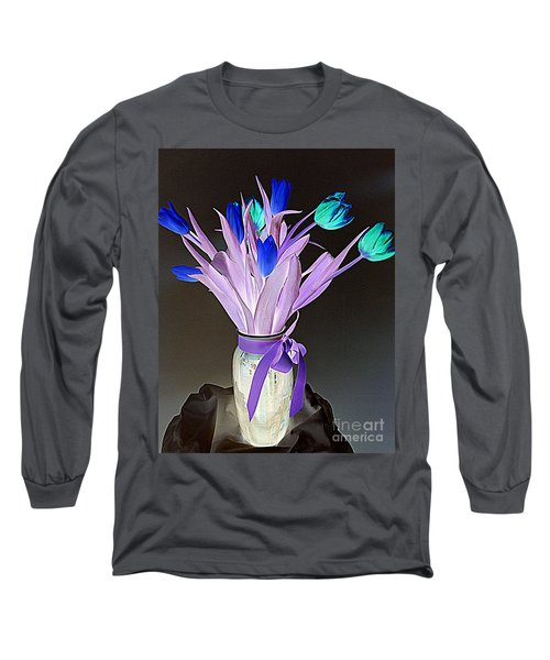 Tulips Cancer 1 Long Sleeve T-Shirt by Richard W Linford