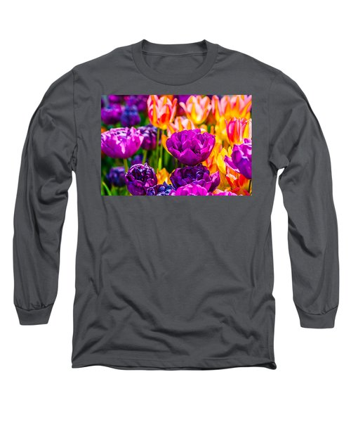 Long Sleeve T-Shirt featuring the photograph Tulips Enchanting 42 by Alexander Senin