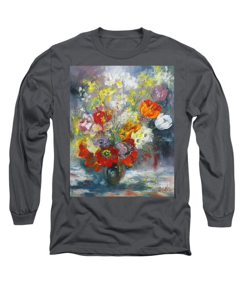 Tulips, Narcissus And Forsythia Long Sleeve T-Shirt
