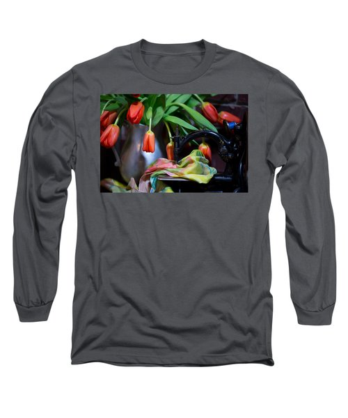 Tulips Long Sleeve T-Shirt by Sharon Jones