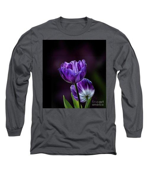 Tulips Long Sleeve T-Shirt by Shirley Mangini