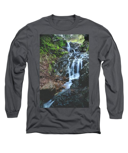 Long Sleeve T-Shirt featuring the photograph Tumbling Down by Laurie Search