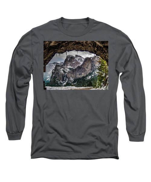 Long Sleeve T-Shirt featuring the photograph Tunnel View From The Tunnel by Bill Gallagher