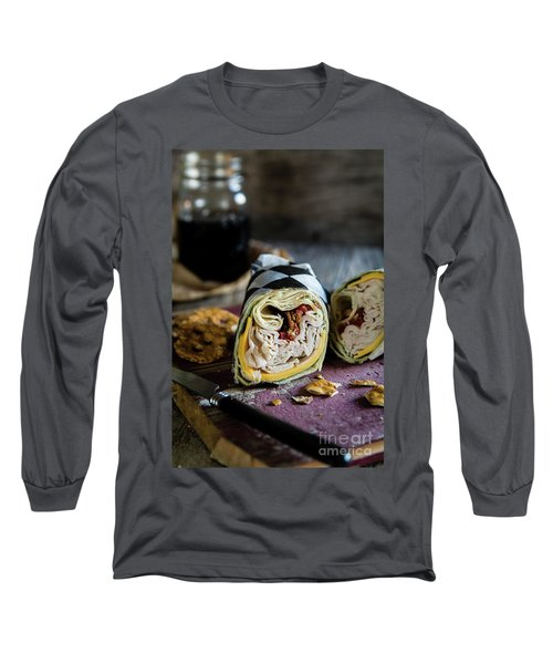 Turkey Bacon Wrap 1 Long Sleeve T-Shirt by Deborah Klubertanz