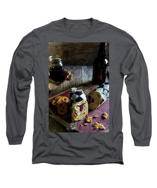 Long Sleeve T-Shirt featuring the photograph Turkey Bacon Wrap 3 by Deborah Klubertanz