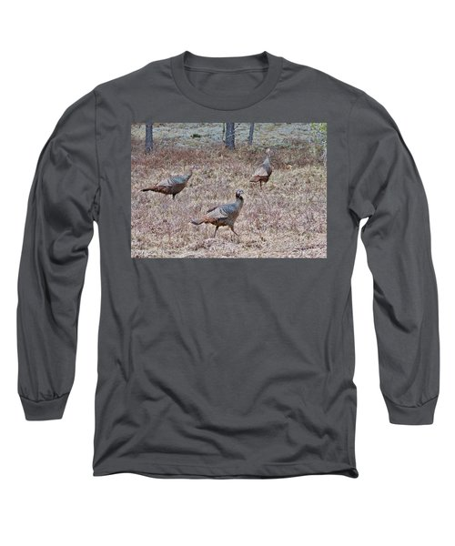 Long Sleeve T-Shirt featuring the photograph Turkey Trio 1153 by Michael Peychich