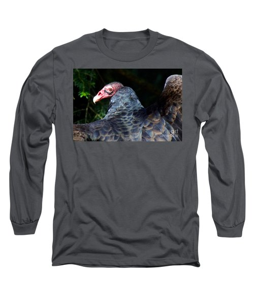Turkey Vulture Long Sleeve T-Shirt by Sean Griffin