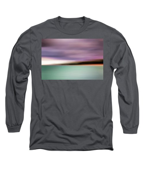 Long Sleeve T-Shirt featuring the photograph Turquoise Waters Blurred Abstract by Adam Romanowicz