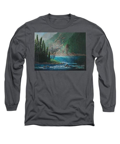 Turquoise River Long Sleeve T-Shirt