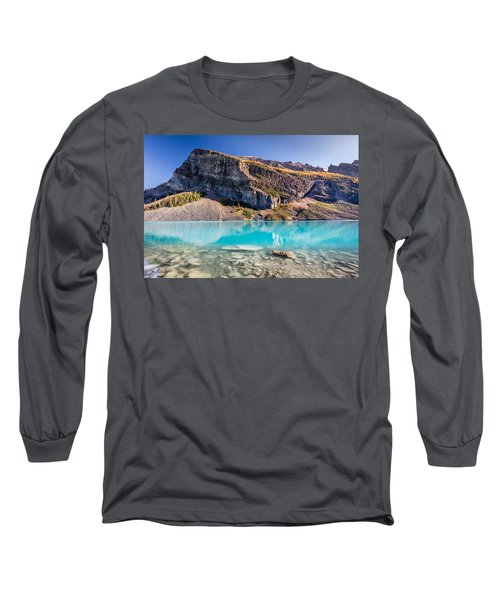 Long Sleeve T-Shirt featuring the photograph Turquoise Water Of The Scenic Lake Louise by Pierre Leclerc Photography
