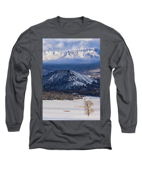 Turret Ridge In Winter Long Sleeve T-Shirt