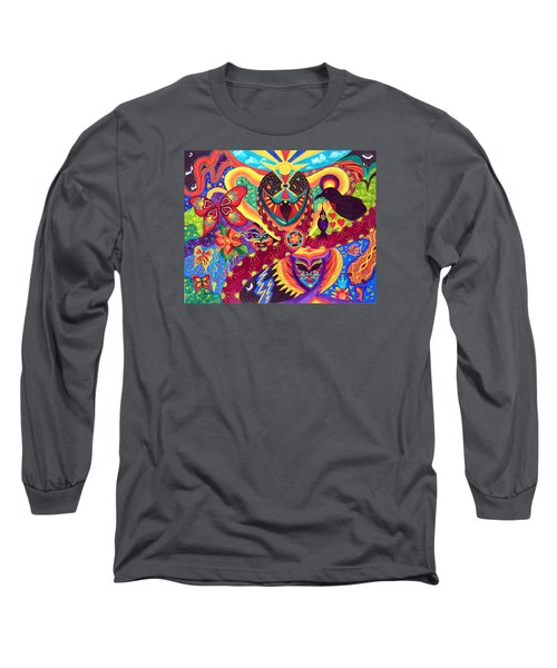 Long Sleeve T-Shirt featuring the painting Raven's Watch by Marina Petro