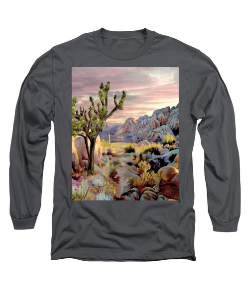 Twilight At Joshua   Vert. Long Sleeve T-Shirt