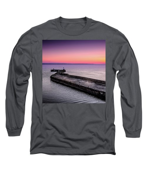 Twilight, Burghead Harbour Long Sleeve T-Shirt