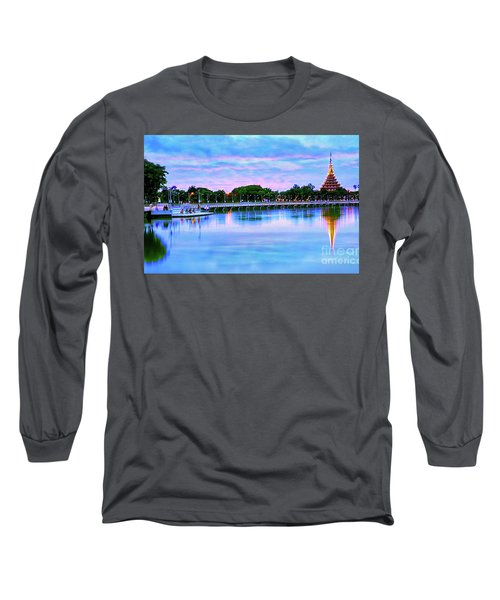 Twilight City Lake View Long Sleeve T-Shirt