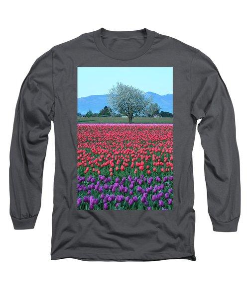 Twilight In Skagit Valley Long Sleeve T-Shirt