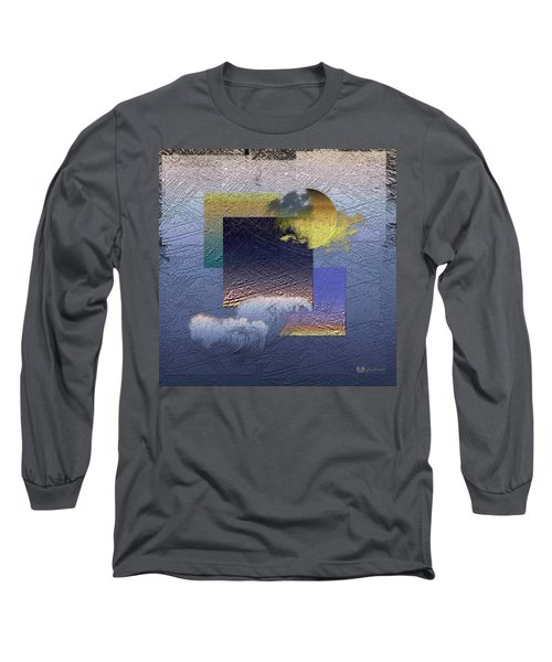 Twilight Interrupted By Ocean Breeze Long Sleeve T-Shirt by Serge Averbukh