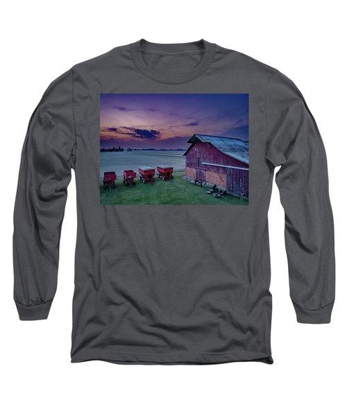 Twilight On The Farm Long Sleeve T-Shirt