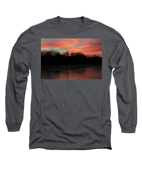 Long Sleeve T-Shirt featuring the photograph Twilight On The River by Chris Berry