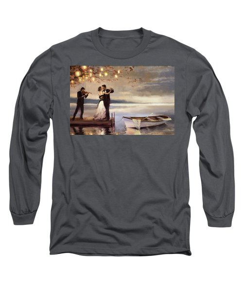 Long Sleeve T-Shirt featuring the painting Twilight Romance by Steve Henderson