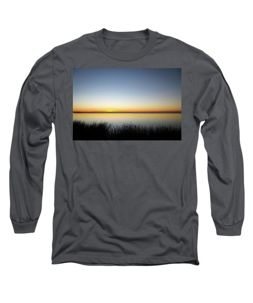 Twilight Stillness Down By The Beach Lagoon Long Sleeve T-Shirt
