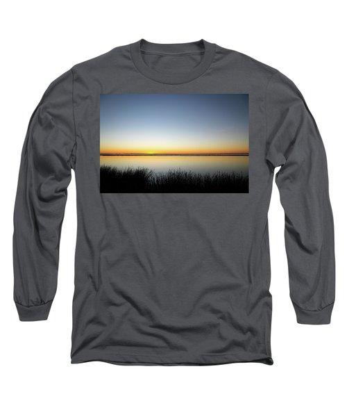 Twilight Stillness Down By The Beach Lagoon Long Sleeve T-Shirt