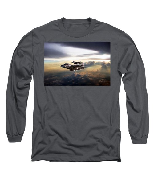 Long Sleeve T-Shirt featuring the digital art Twilight's Last Gleaming by Peter Chilelli