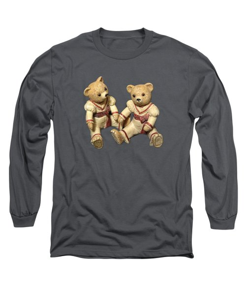 Twin Hagara Bears Long Sleeve T-Shirt by Linda Phelps