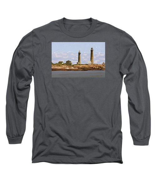 Twin Lights, Thatcher's Island, Rockport, Ma Long Sleeve T-Shirt