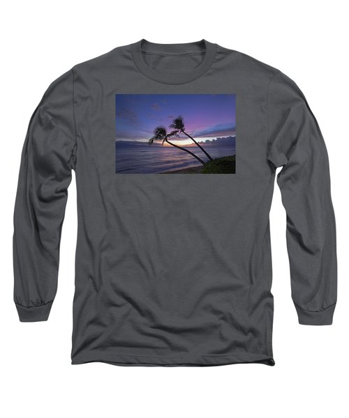 Twin Palms  Long Sleeve T-Shirt by James Roemmling