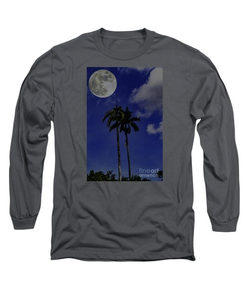 Twin Palms Long Sleeve T-Shirt by Ken Frischkorn